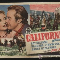 Cine: P-8938- CALIFORNIA (BARBARA STANWYCK - RAY MILLAND - BARRY FITZGERALD - ANTHONY QUINN). Lote 27416258
