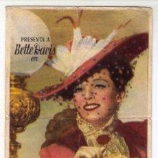 Cine: LA LOBA - BETTE DAVIS - AÑO 1941 - PUBLICIDAD EN PALACIO CINENA DE ALBUIXECH. Lote 27426375