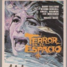 Foglietti di film di film antichi di cinema: TERROR EN EL ESPACIO. SENCILLO DE CB FILMS.. Lote 118702343