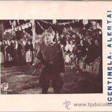 Cine: CENTINELA ALERTA PROGRAMA TARJETA CINE ESPAÑOL ANGELILLO CNT FAI. Lote 27531034