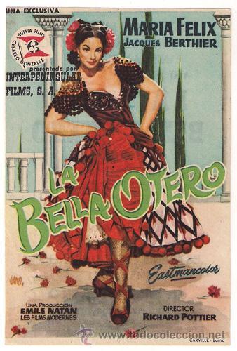 LA BELLA OTERO PROGRAMA SENCILLO INTERPENINSULAR SUEVIA MARIA FELIX A (Cine - Folletos de Mano - Drama)