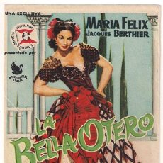 Cine: LA BELLA OTERO PROGRAMA SENCILLO INTERPENINSULAR SUEVIA MARIA FELIX B. Lote 27531740