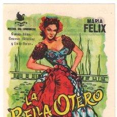 Cine: LA BELLA OTERO PROGRAMA SENCILLO INTERPENINSULAR SUEVIA MARIA FELIX C. Lote 27531763