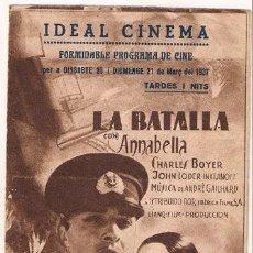 Cine: LA BATALLA PROGRAMA DOBLE IBERICA ANNABELLA CHARLES BOYER JOHN LODER. Lote 27537975