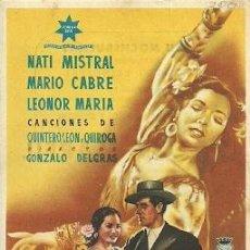 Cinema: PROGRAMA DE MANO DEL FILM ORO Y MARFIL CON NATI MISTRAL. Lote 27544535