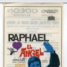 Cine: EL ANGEL, CON RAPHAEL.. Lote 35682233