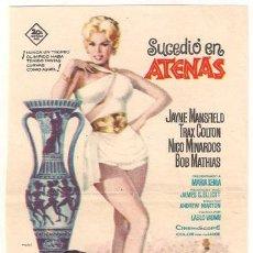 Cine: SUCEDIO EN ATENAS PROGRAMA SENCILLO JAYNE MANSFIELD JUEGOS OLIMPICOS BOB MATHIAS. Lote 27621797