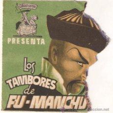 Cine: LOS TAMBORES DE FU MANCHU PROGRAMA DOBLE TROQUELADO CHAMARTIN HENRY BRANDON JORNADA 1. Lote 27642717