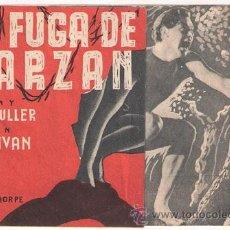 Cine: LA FUGA DE TARZAN PROGRAMA DOBLE MGM JOHNNY WEISSMULLER MAUREEN O'SULLIVAN. Lote 27645790