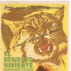 Cine: EL DESIERTO VIVENTE - WALT DISNEY - DIRECTOR JAMES ALGAR - FILMAX - MCP. Lote 27904211