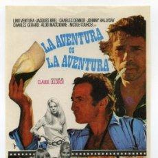 Cine: LA AVENTURA ES LA AVENTURA, CON LINO VENTURA.. Lote 297059348