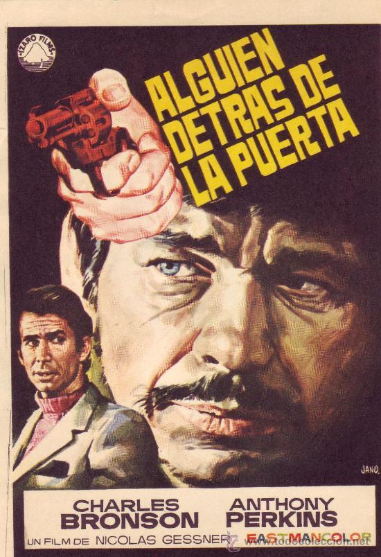 ALGUIEN DETRAS DE LA PUERTA. CHARLES BRONSON. ANTHONY PERKINS (Cine - Folletos de Mano - Suspense)
