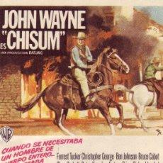 Cine: JOHN WAYNE ES CHISUM.. Lote 131106493