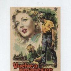 Cine: VUELVE A AMANECER. SENCILLO DE CIRE FILMS. ¡IMPECALE!. Lote 27774468