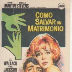 Cine: COMO SALVAR UN MATRIMONIO. Lote 131106684