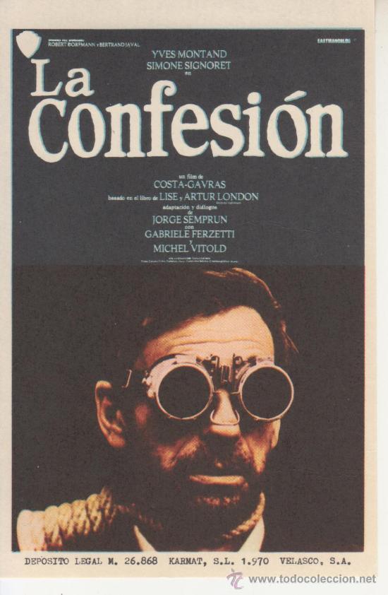 LA CONFESION (Cine - Folletos de Mano)