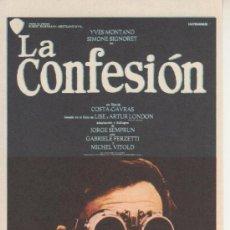 Cine: LA CONFESION. Lote 27807759