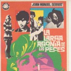 Cine: LA LARGA AGONIA DE LOS PECES JOAN MANUEL SERRAT. Lote 27807909
