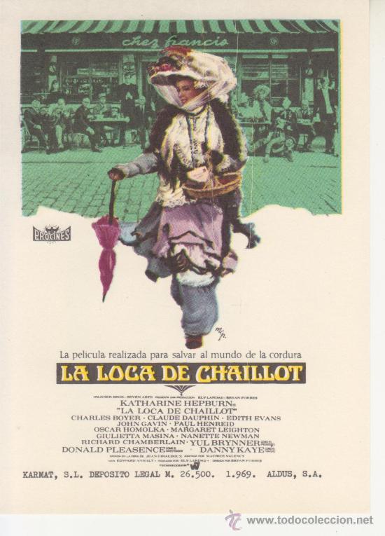 LA LOCA CHAILLOT (Cine - Folletos de Mano)