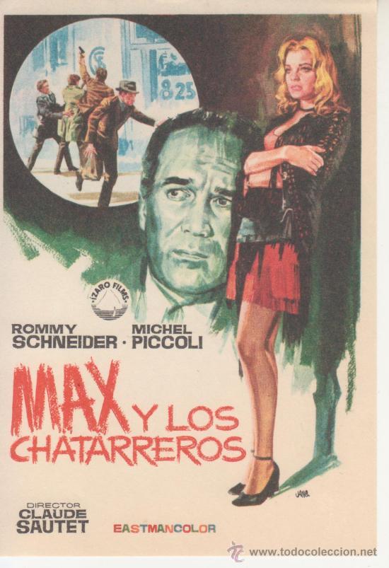 MAX Y LOS CHATARREROS. ROMMY SCHNEIDER (Cine - Folletos de Mano)