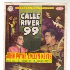 Cine: CALLE RIVER, 99 - JOHN PAYNE- 1953 - PUBLICIDAD EN CINE ESLAVA EL 9-5-54. Lote 27878805