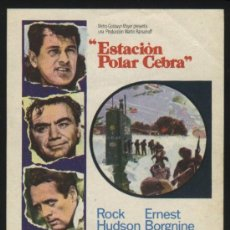 Cine: P-3193- ESTACION POLAR CEBRA (ROCK HUDSON - PATRICK MCGOOHAN - ERNEST BORGNINE - JIM BROWN). Lote 27918775