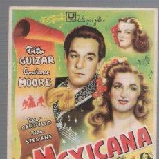 Cine: MEXICANA. SENCILLO DE U FILMS. CINE GÓNGORA.. Lote 28065217