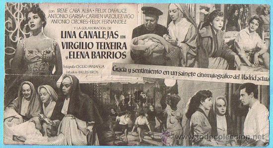 Cine: UN DÍA PERDIDO. ANA MARISCAL, ELVIRA QUINTILLÀ, JOSE ISBERT. CINE MAJESTIC, TÁRREGA. - Foto 2 - 28038321