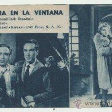 Cine: UNA SOMBRA EN LA VENTANA.PROGRAMA TARJETA DE EMISORA FILMS. 171.. Lote 28104737