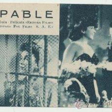Cine: CULPABLE. PROGRAMA FICHA DE EMISORA FILMS. . Lote 28120189