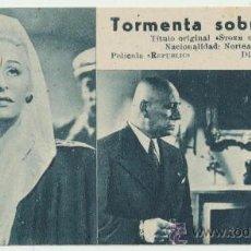 Cine: TORMENTA SOBRE LISBOA. PROGRAMA FICHA DE U FILMS.. Lote 28120222