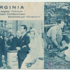 Cine: VIRGINIA. PROGRAMA FICHA DE PARAMOUNT. 19.. Lote 28120292