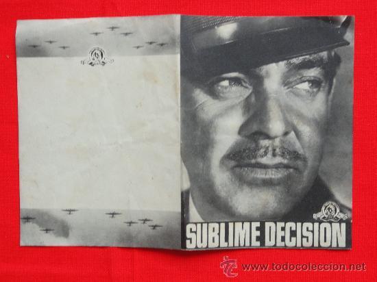 SUBLIME DECISION, CLARK GABLE, DOBLE ORIGINAL-EXCELENTE ESTADO SP (Cine - Folletos de Mano - Bélicas)