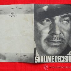 Cine: SUBLIME DECISION, CLARK GABLE, DOBLE ORIGINAL-EXCELENTE ESTADO SP. Lote 28144301