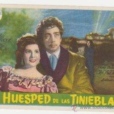 Flyers Publicitaires de films Anciens: EL HUESPED DE LAS TINIEBLAS. SENCILLO DE SAGITARIO FILMS. CINE MARI - LEÓN 1950.. Lote 28145819