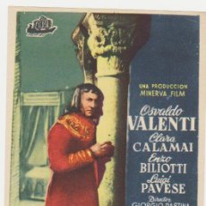 Folhetos de mão de filmes antigos de cinema: ENRIQUE IV. SENCILLO DE CICOSA. . Lote 28146655