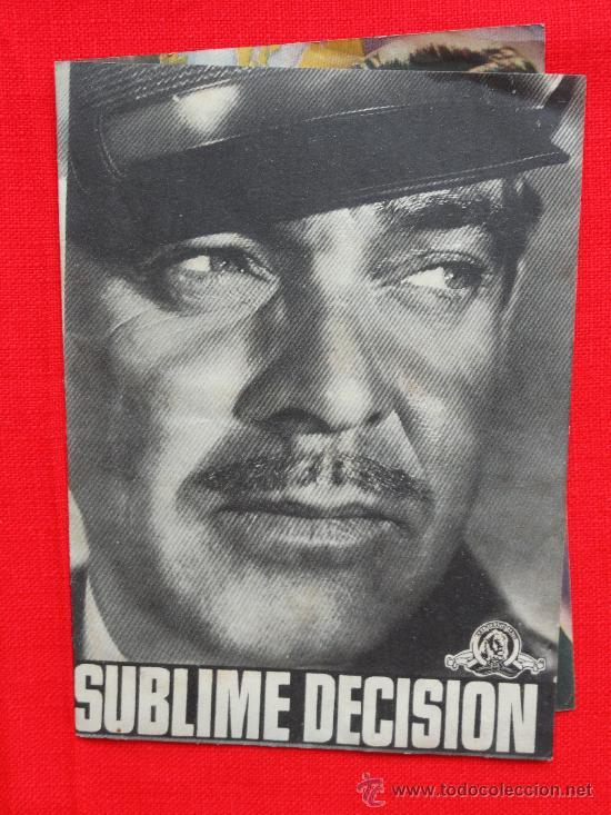 Cine: Sublime decision, Clark Gable, Doble original-Excelente estado SP - Foto 3 - 28144301
