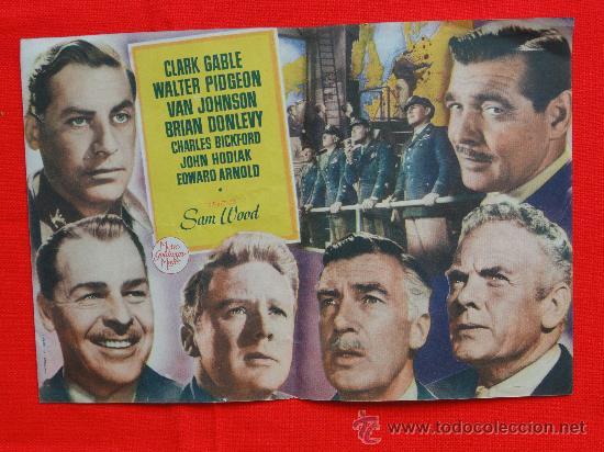 Cine: Sublime decision, Clark Gable, Doble original-Excelente estado SP - Foto 2 - 28144301