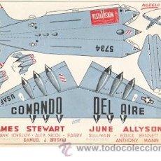 Cine: COMANDO DEL AIRE PROGRAMA DE MANO ORIGINAL JAMES STEWART RECORTABLE. Lote 124516598