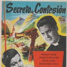 Cine: SECRETO DE CONFESIÓN (PROGRAMA ORIGINAL DE 1956). Lote 28176050