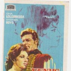 Cine: VENUS IMPERIAL. SENCILLO DE MERCURIO. IMPERIAL CINEMA - CALLOSA DE SEGURA 1965. ¡IMPECABLE! . Lote 28241234