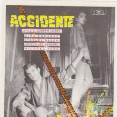Cine: ACCIDENTE. SENCILLO DE MUNDIAL FILMS.. Lote 28253211