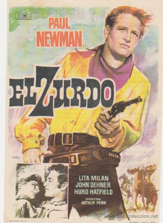 EL ZURDO. SENCILLO DE MUNDIAL FILMS. CINES SIERRA Y MONUMENTAL - MATARÓ 1962. (Cine - Folletos de Mano - Acción)