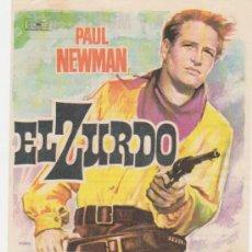 Cine: EL ZURDO. SENCILLO DE MUNDIAL FILMS. CINES SIERRA Y MONUMENTAL - MATARÓ 1962.. Lote 28309753