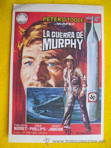LA GUERRA DE MURPHY. DIBUJO JANO. PETER O'TOOKE, PHILIPPE NOIRET, SIAN PHILLIPS, …DIR PETER YATE (Cine - Folletos de Mano - Bélicas)