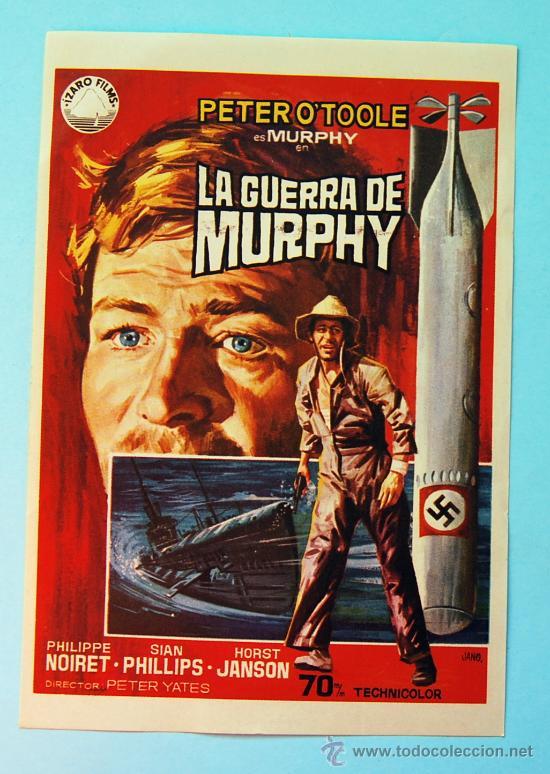 LA GUERRA DE MURPHY - PETER O'TOOLE - SIN PUBLICIDAD EN LA TRASERA (Cine - Folletos de Mano - Bélicas)