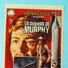Cine: LA GUERRA DE MURPHY - PETER O'TOOLE - SIN PUBLICIDAD EN LA TRASERA. Lote 28343133