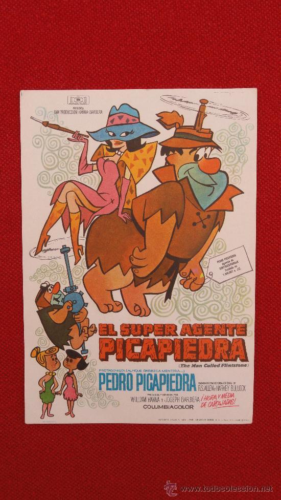 EL SUPER AGENTE PICAPIEDRA ORIGINAL IMPECABLE SIN PUBLICIDAD (Cine - Folletos de Mano - Infantil)