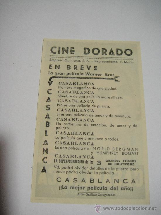 Cine: CASABLANCA CINE DORADO DE ZARAGOZA - Foto 2 - 26387670