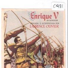 Cine: ENRIQUE V - (C-481). Lote 28401756